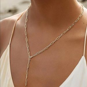 Paper Clip Chain Necklace/2 ways to wear